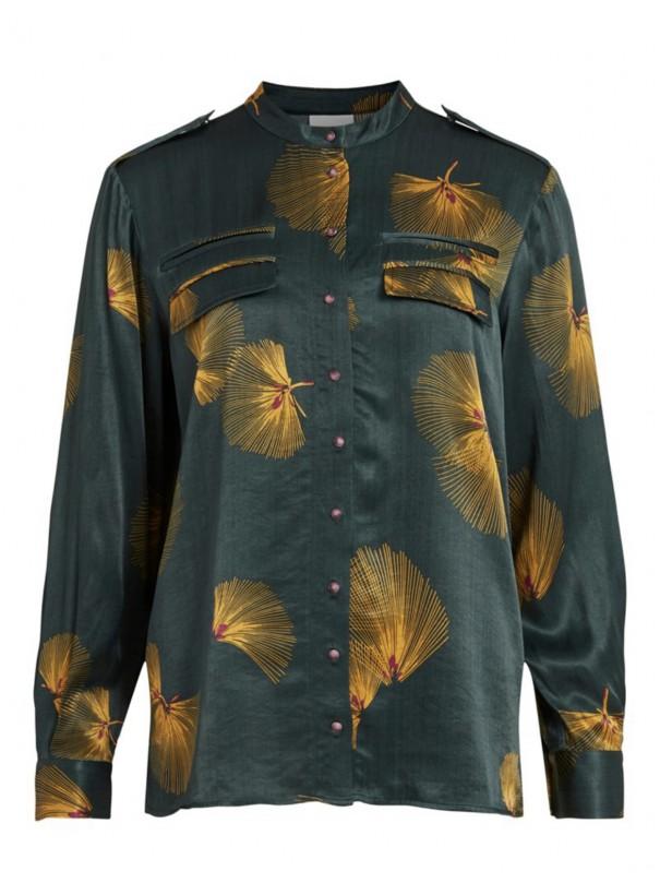 Tee shirt VISARUNA 14068567 Darkest Spruce VILA H 21